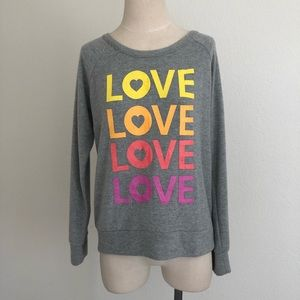 NWT Chaser Love Love Love Pullover Sweater